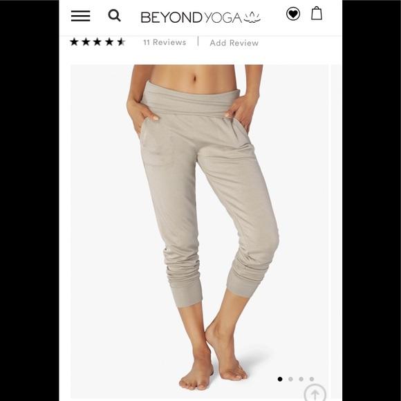 e5f58ad7cedbe Beyond Yoga Pants - NWOT Beyond Yoga Foldover Waist Sweatpants Green M